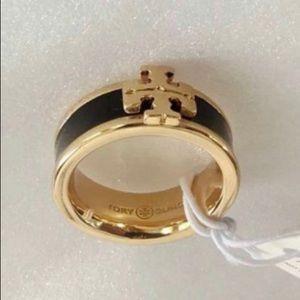 New Tory Burch Ring Logo Ring